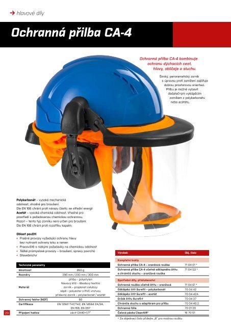 CleanAir produktový katalog