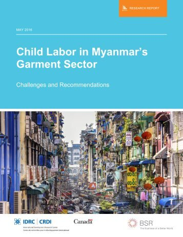 Child Labor in Myanmar's Garment Sector