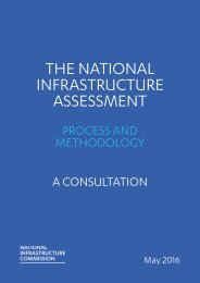 THE NATIONAL INFRASTRUCTURE ASSESSMENT