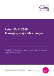 Later Life in 2015 Managing major life changes
