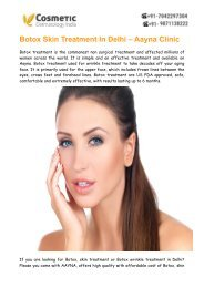 Botox Skin Treatment Delhi – AAYNA (Cosmetic Dermatology India)
