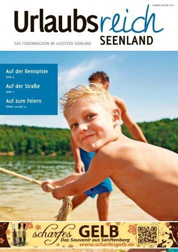 Ferienmagazin Urlaubsreich Seenland, Ausgabe Juni bis Juli 2016