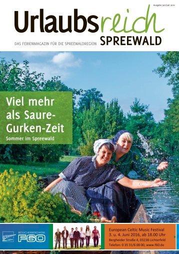 Ferienmagazin Urlaubsreich Spreewald, Juni/Juli 2016