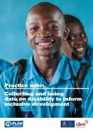 Collecting and using data on disability to inform inclusive development
