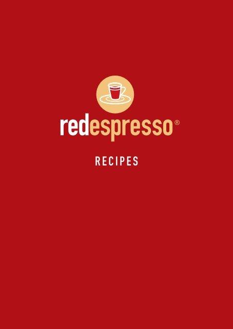 red espresso® capsules recipe booklet