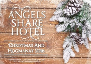 CHRISTMAS AND HOGMANAY 2016