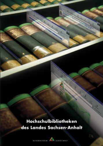 Hochschulbibliotheken des Landes Sachsen-Anhalt