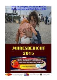 Jahresbericht 2015 der Union für Menschenrechte und MInderheiten