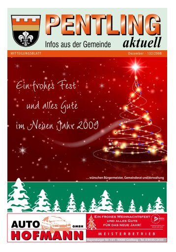 Ein frohes Fest und alles Gute im Neuen Jahr 2009 - Pentling aktuell