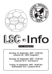 LSC-Info 2007-2008 Ausgabe3 - Leezener SC