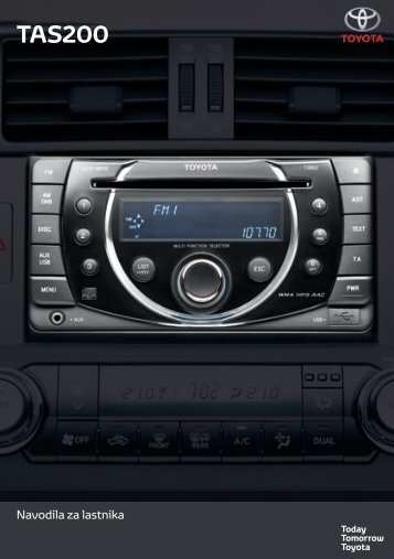 Toyota TAS200 - PZ420-00212-SL - TAS200 (Slovenian) - mode d'emploi