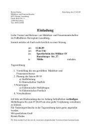 Einladung - KFV Herzogtum Lauenburg