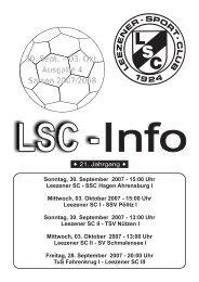 LSC-Info 2007-2008 Ausgabe4 - Leezener SC
