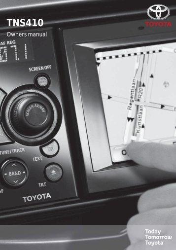 Toyota TNS410 - PZ420-E0333-EN - TNS410 - mode d'emploi