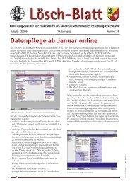 Datenpflege ab Januar online - Kreisfeuerwehrverband Rendsburg ...