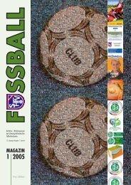 Ausgabe I / 2005 - Schleswig-Holsteinischer Fussballverband eV