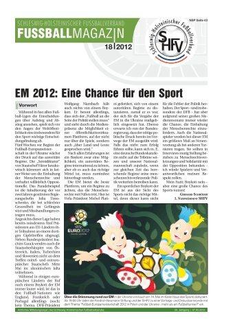 EM 2012 - Schleswig-Holsteinischer Fussballverband eV