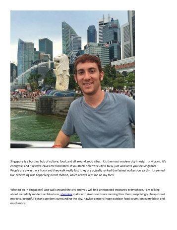 Bacall Associates Travel guide to Singapore