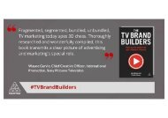 The TV Brand Builders How to Win Audiences and Influence Viewers