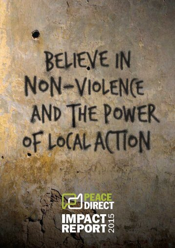 Peace Direct Impact Report 2015