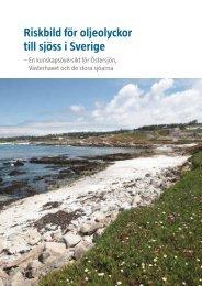 Riskbild för oljeolyckor till sjöss i Sverige