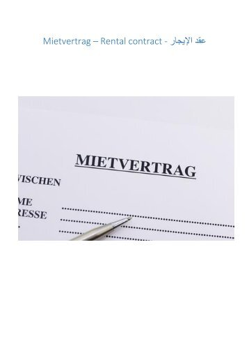 Mietvertrag - rental contract