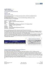 Bonus & Garantie - FinanceLife Lebensversicherung AG