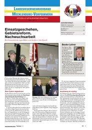 Einsatzgeschehen, Gebiets reform, Nachwuchsarbeit - Feuerwehr