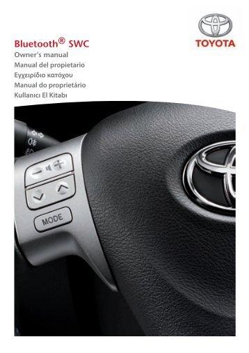 Toyota Bluetooth SWC English Spanish Greek Portuguese Turkish - PZ420-00296-SE - Bluetooth SWC English Spanish Greek Portuguese Turkish - mode d'emploi