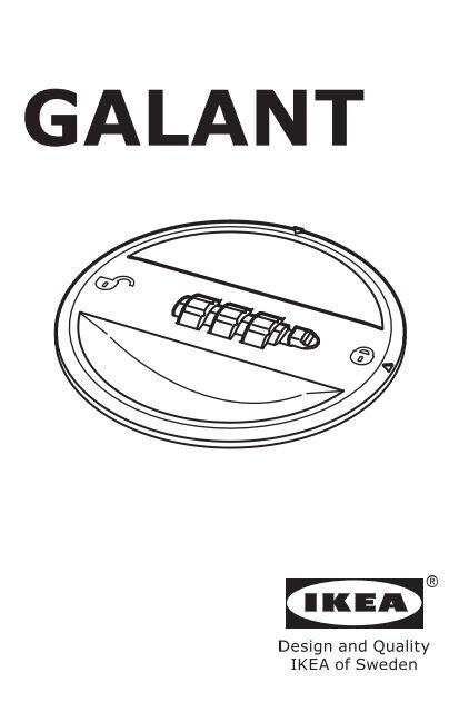 Ikea GALANT mobile con ante scorrevoli - S59046478 - Manuali