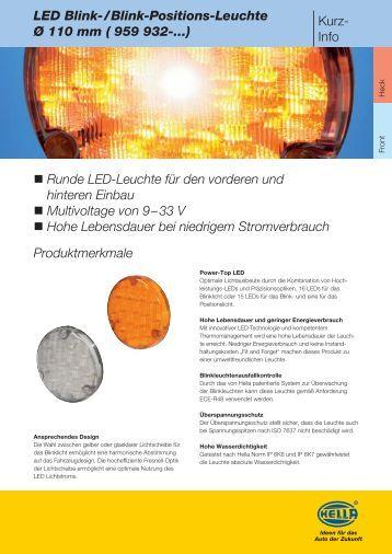 LED Blink-/Blink-Positions-Leuchte Ø 110 mm - Hella