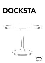 Ikea DOCKSTA / IKEA PS 2012 tavolo e 4 sedie - S69932061 - Istruzioni di montaggio
