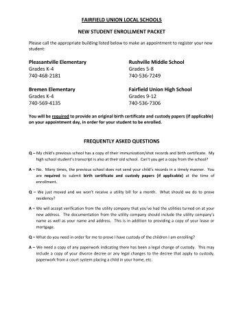 Student-Enrollment-Packet