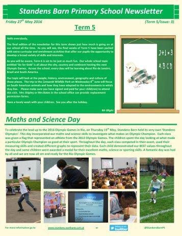 Standens Barn Primary School Newsletter