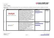 Whitelist - Callnet.ch