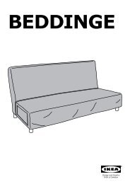 Ikea BEDDINGE fodera per divano letto a 3 posti - 70306417 - Istruzioni di montaggio