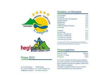 Preisliste zum Herunterladen - Hegau-Bodensee-Camping