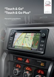 Toyota Toyota Touch & Go - PZ490-00331-*0 - Toyota Touch & Go - Toyota Touch & Go Plus - French - mode d'emploi