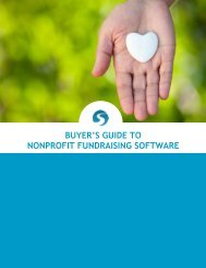 BUYER'S GUIDE TO NONPROFIT FUNDRAISING SOFTWARE