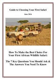 Free Guide to Choosing a Safari