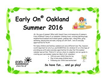 Early On Oakland Summer 2016