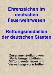 In eigener Sache….. - Feuerwehr-Ehrenzeichen