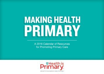 for Promoting Primary Care