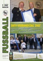 shfv-verbandstag 2007 - Schleswig-Holsteinischer Fussballverband ...