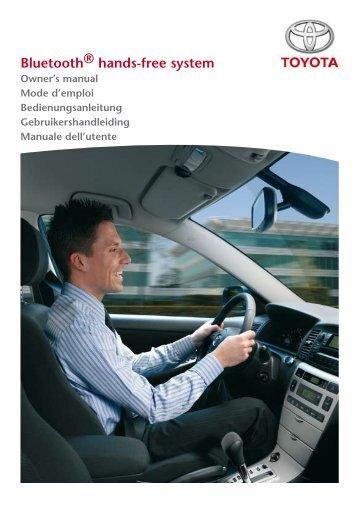 Toyota Bluetooth UIM English French German Dutch Italian - PZ420-00292-ME - Bluetooth UIM English French German Dutch Italian - mode d'emploi