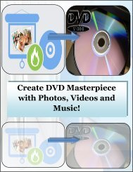 Create DVD Masterpiece with Photos, Videos and Music!
