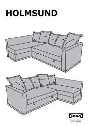 Ikea HOLMSUND fodera per divano letto angolare - 80301730 - Istruzioni di montaggio