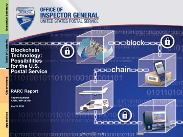Blockchain Technology Possibilities for the U.S Postal Service