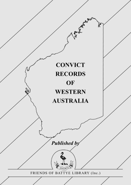 Convict Records of Western Australia