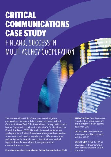 CRITICAL COMMUNICATIONS CASE STUDY